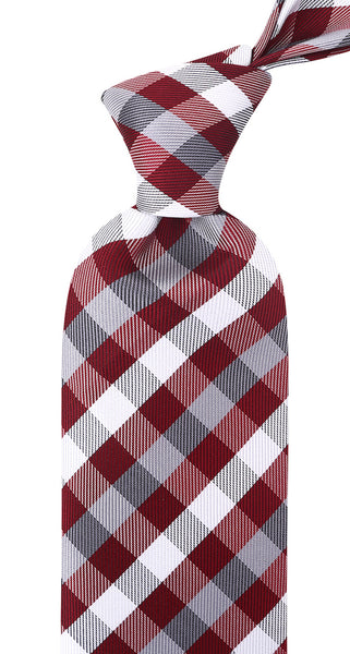 Copy of Burgundy and Gray Plaid Necktie