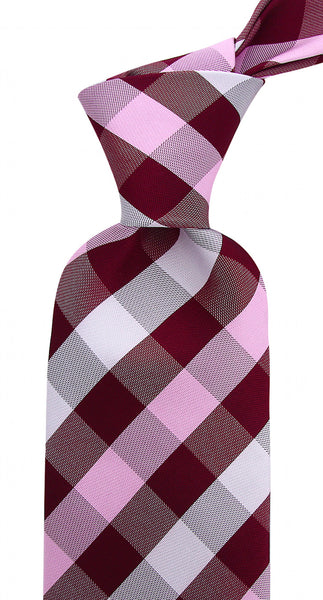 Burgundy Plaid Necktie - Various Colors
