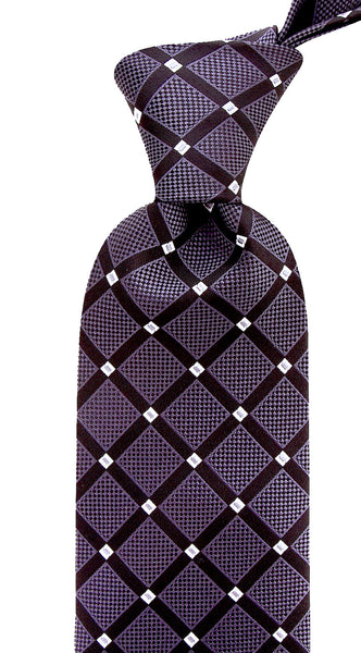 Black Charcoal Geometric Necktie