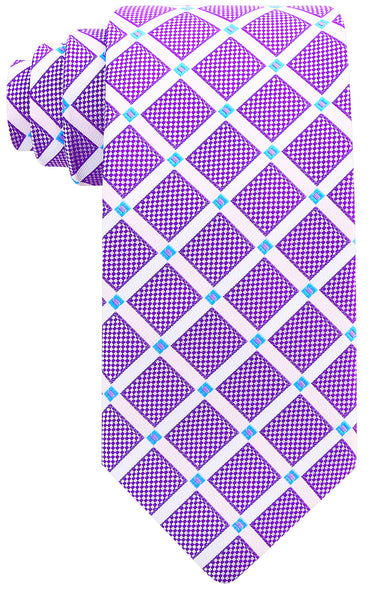 Purple Geometric Necktie