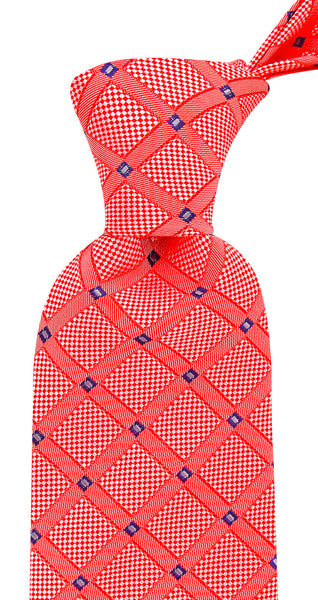 Red Geometric Necktie