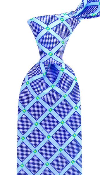 Blue Geometric Necktie