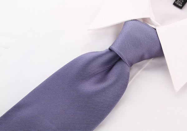 Gray Solid Twill Necktie - Scott Allan Collection