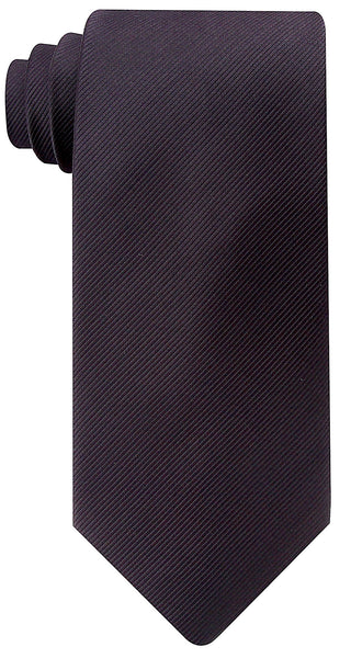 Black Solid Twill Necktie