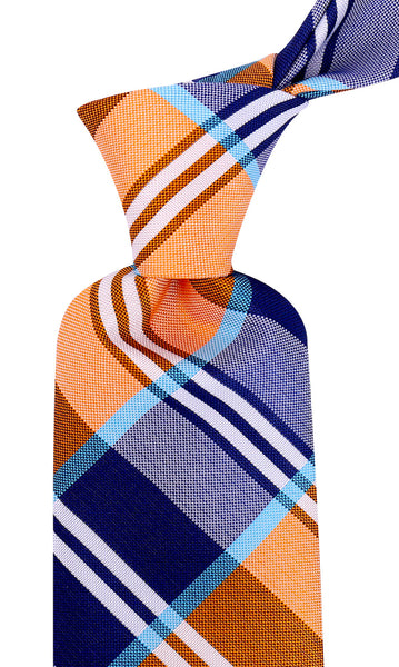 Orange Buffalo Plaid Necktie