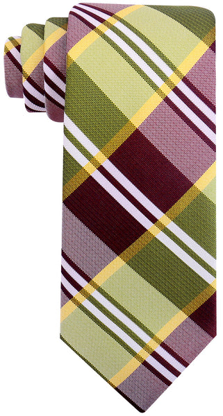 Green Buffalo Plaid Necktie