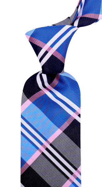 Blue Buffalo Plaid Necktie