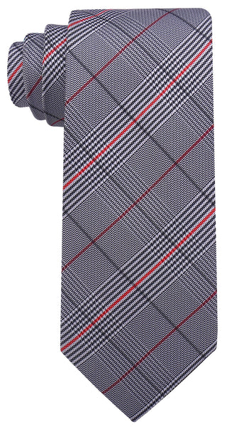 Black Red Plaid Necktie