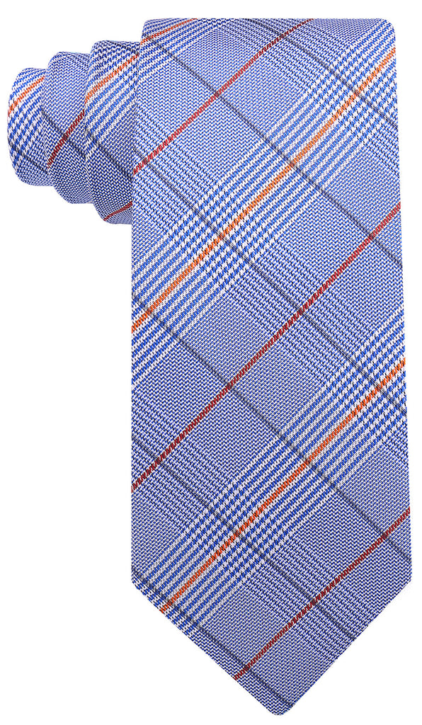 Blue Orange Plaid Necktie - Scott Allan Collection