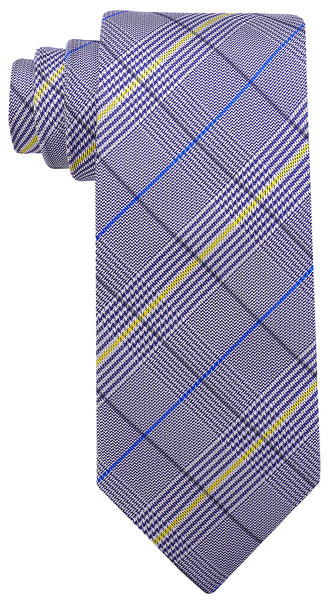 Blue Yellow Plaid Necktie - Scott Allan Collection