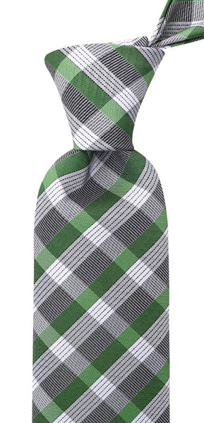 Green & Gray Striped Necktie
