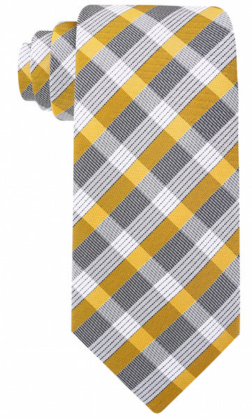 Gold & Gray Plaid Necktie