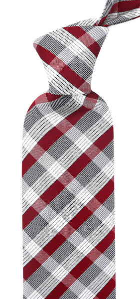 Burgundy & Gray Stripe Necktie