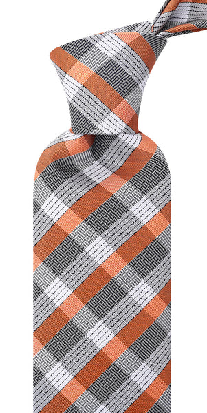 Orange & Gray Stripe Necktie