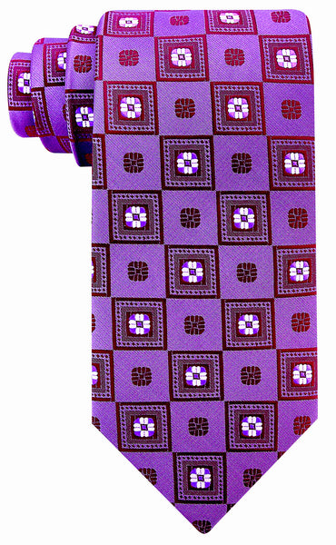 Dark Purple Floral Necktie