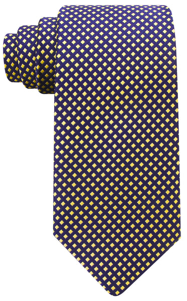 Navy Blue Yellow Diamond Necktie