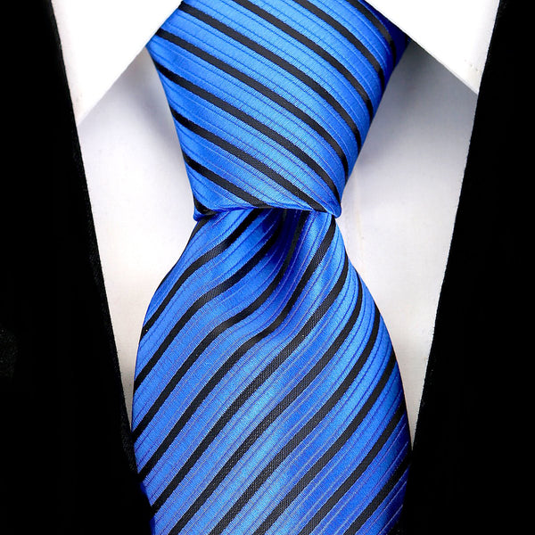 Blue Striped Necktie - Scott Allan Collection