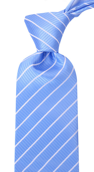 Carolina Blue White Stripe Necktie