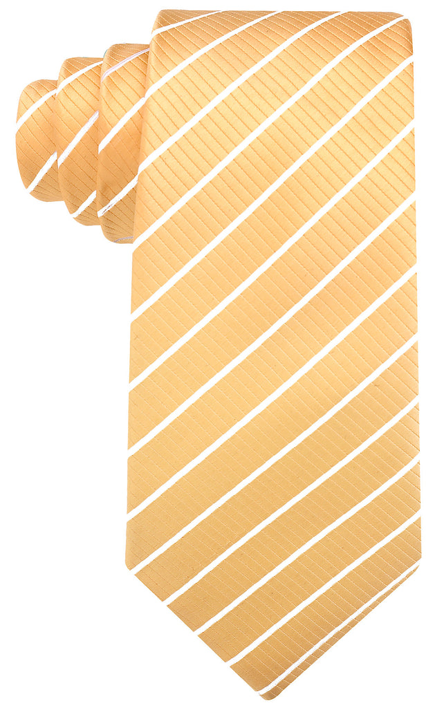 Yellow/Gold White Stripe Necktie - Scott Allan Collection