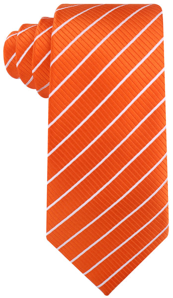 Orange White Stripe Necktie