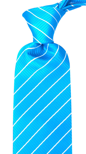 Blue White Stripe Necktie