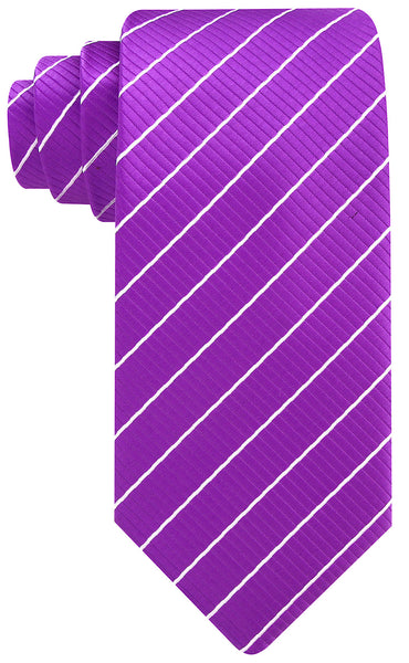 Purple White Stripe Necktie