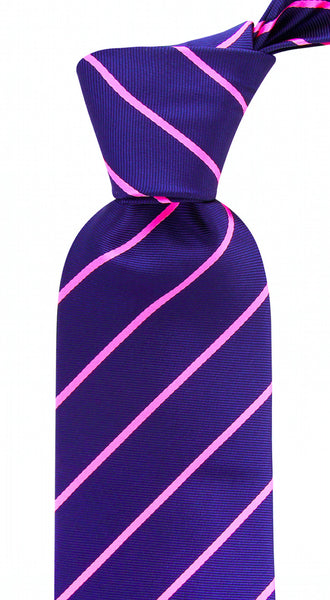 Navy Blue Pink Pencil Stripe Necktie