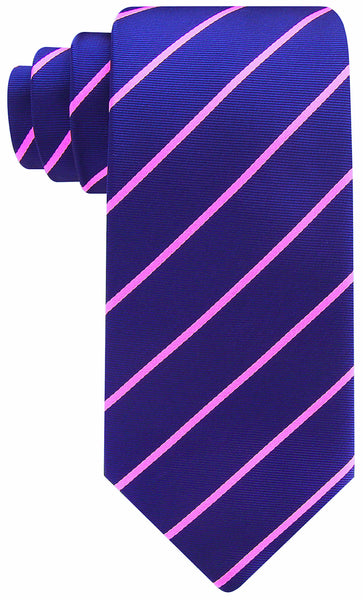 Navy Blue Pink Pencil Stripe Necktie - Scott Allan Collection