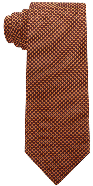 Brown and Yellow Checkered Necktie