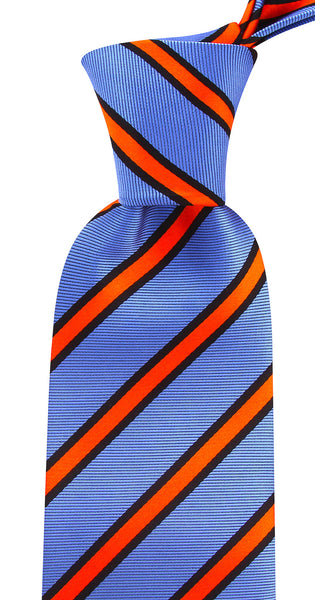 Blue & Orange Striped Necktie