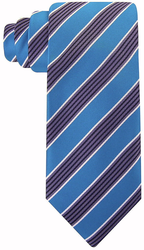 Teal Black Quad Stripe Necktie - Scott Allan Collection