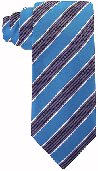 Teal Black Quad Stripe Necktie