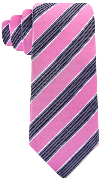 Pink Black Quad Stripe Necktie - Scott Allan Collection