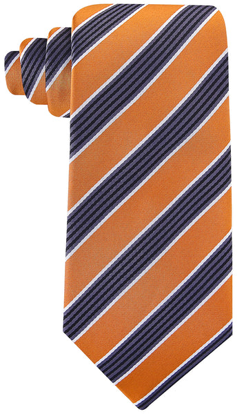 Orange Black Necktie