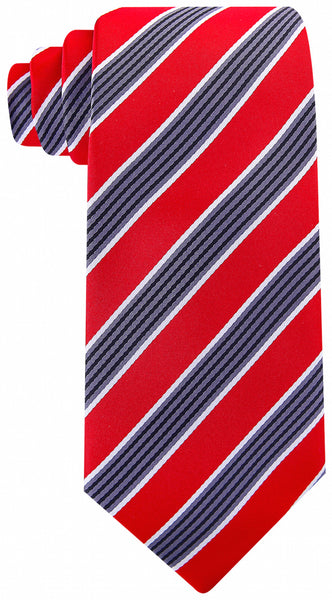 Red Black Quad Stripe Necktie