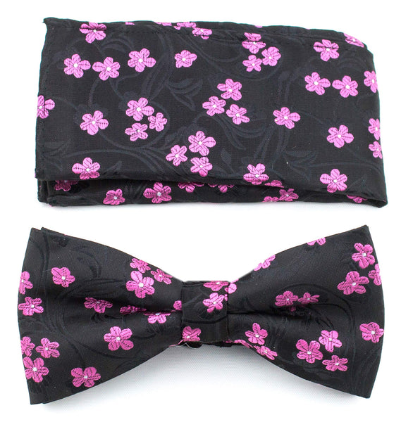 Copy of Bow Ties for Men  - Pre-Tied Clip on Bow Tie with Matching Pocket Square Set- Scott Allan Collection