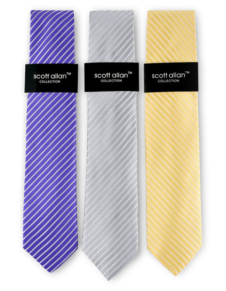 Copy of Mens Tie Set Sets - (3-Pack) Striped Neck Ties for Men - Neckties Bundle