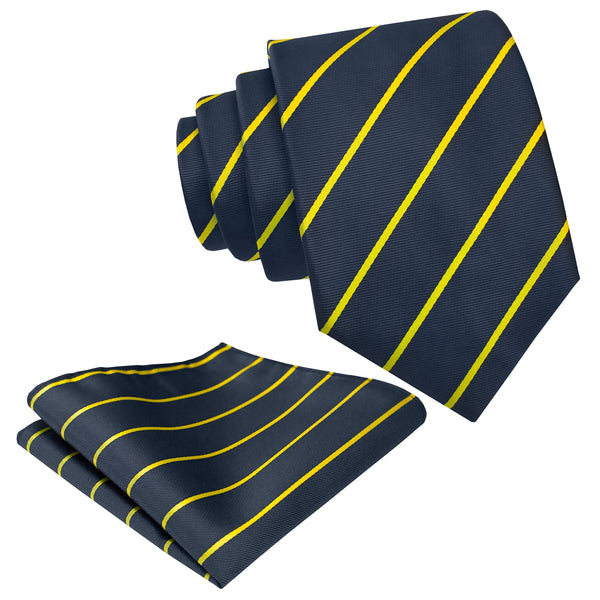 Mens Necktie Set - Neck Tie & Pocket Square Set - Various Colors and Patterns