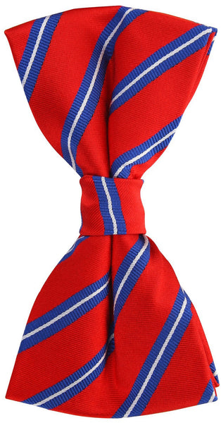 Red Twin Stripe Bow Tie
