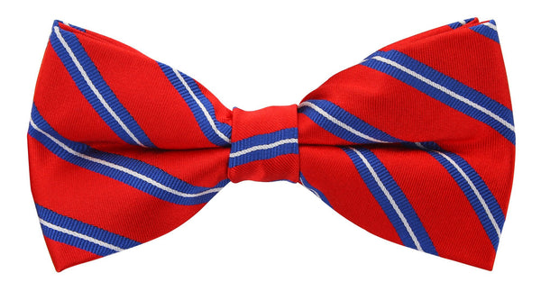 Red Twin Stripe Bow Tie - Scott Allan Collection