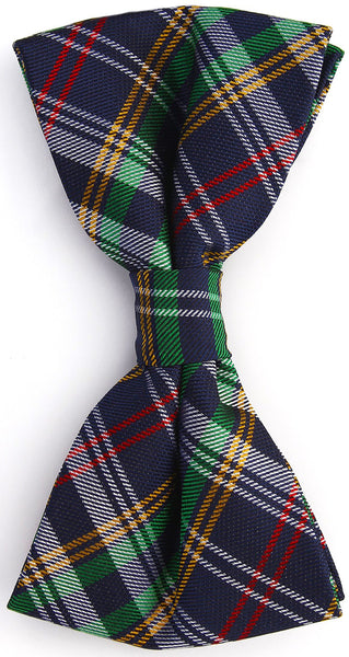 Scottish Multicolor Plaid Bow Tie