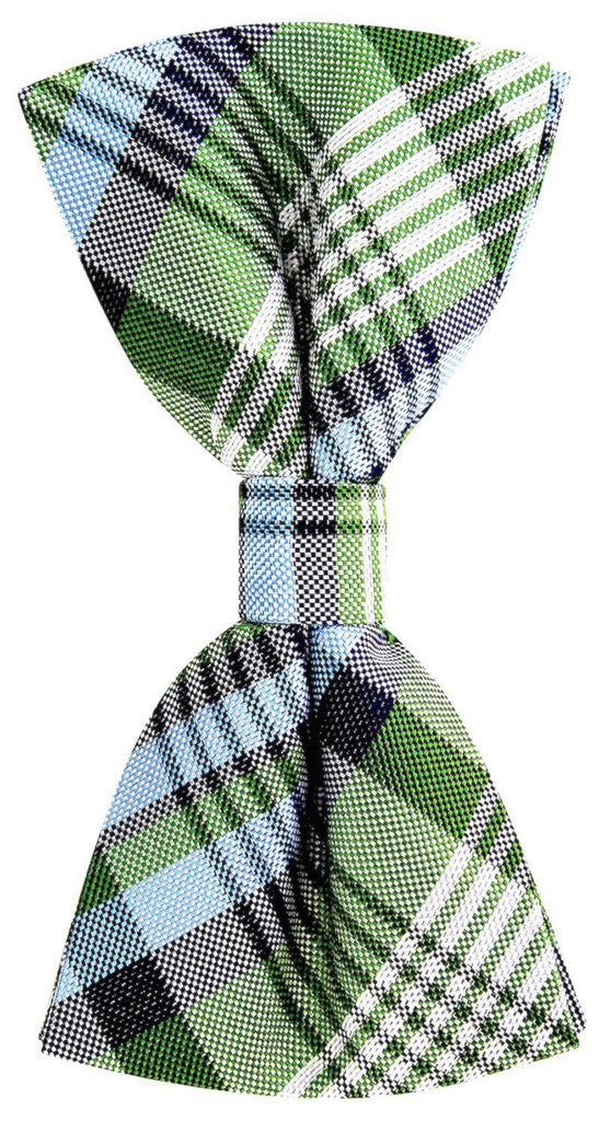 Green New Day Plaid Necktie - Scott Allan Collection