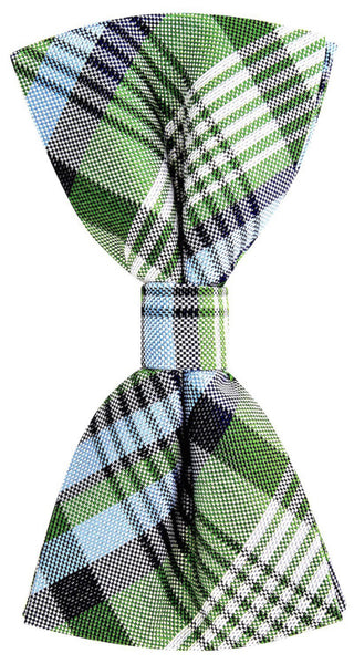 Green New Day Plaid Necktie