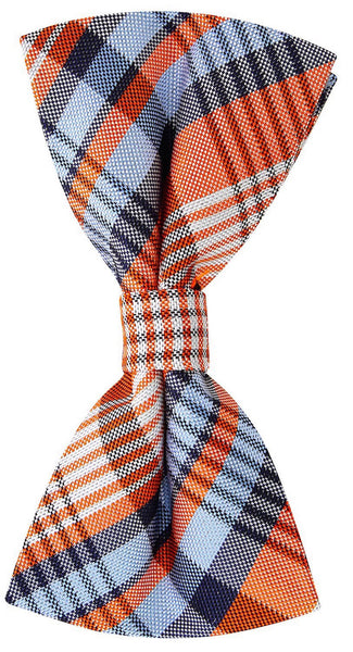 Orange New Day Plaid Necktie
