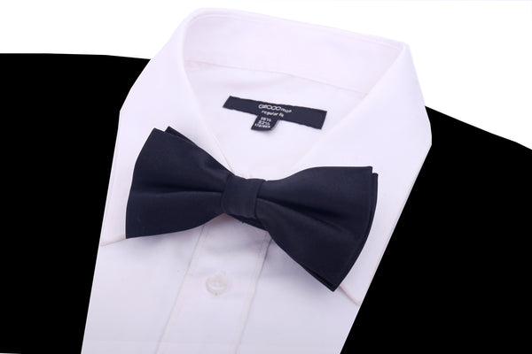 Solid Black Bow Tie - Scott Allan Collection