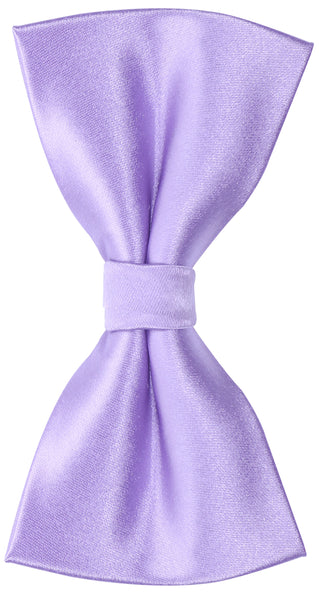 Solid Lilac Purple Silk Bow Tie