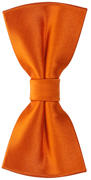 Solid Orange Silk Bow Tie