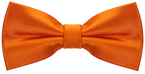 Solid Orange Silk Bow Tie - Scott Allan Collection