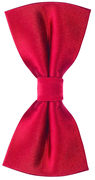 Solid Red Silk Bow Tie
