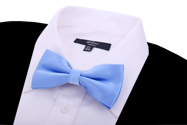 Solid Light Blue Silk Bow Tie - Scott Allan Collection